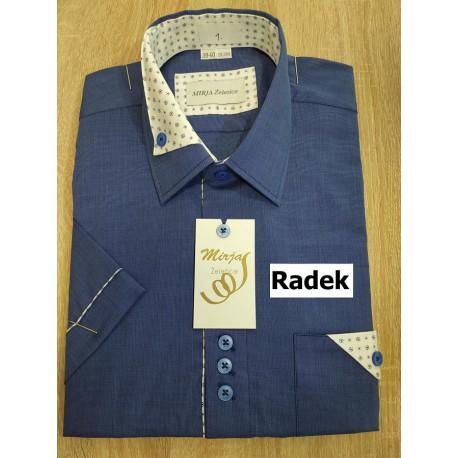 RADEK Společenská košile krátký rukáv